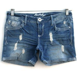 Amethyst - Denim Jean Shorts - Distressed Sz 5